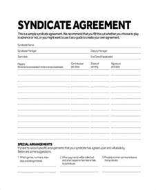 Sle Credit Agreement Uk Syndicate Agreement Template 28 Images Lottery Syndicate Agreement Form 6 Free Templates In