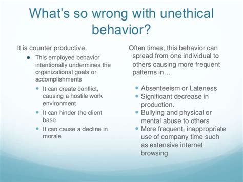 why a lot of employees are a unethical at work and what to do
