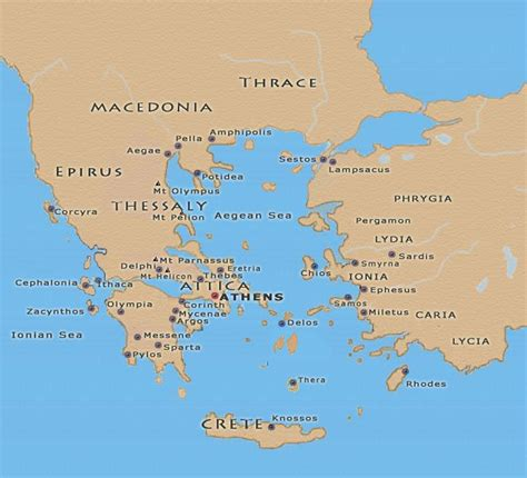 map of archaic greece ancient greece maps of the ancient world