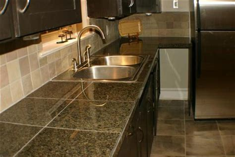 Comparison Of Kitchen Countertop Material Options Ceramic Tile Kitchen Countertops