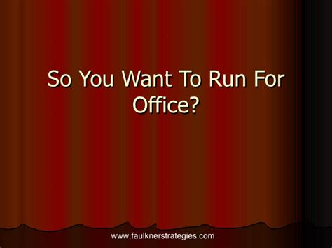 Run For Office by So You Want To Run For Office