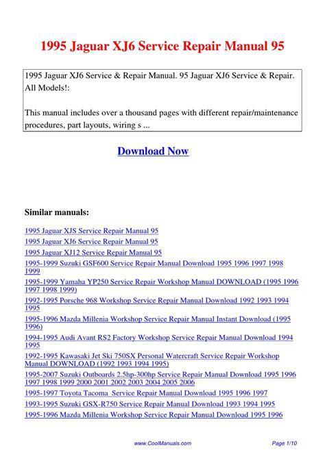1995 Jaguar Xj6 Service Repair Manual 95 By Lan Huang Issuu