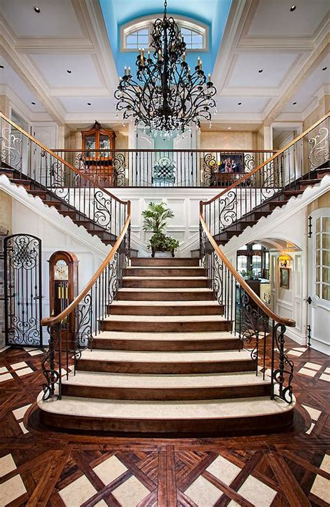 Staircase Ideas Near Entrance 215 Best Images About Luxury Entrance Foyer On Pinterest