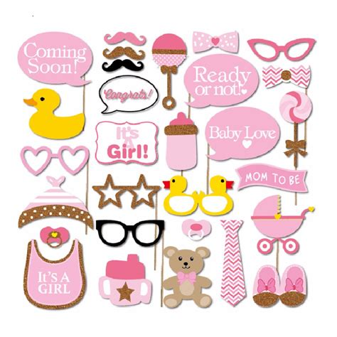 photo booth baby shower ideas 30 pcs set baby shower photo booth props photobooth it s a