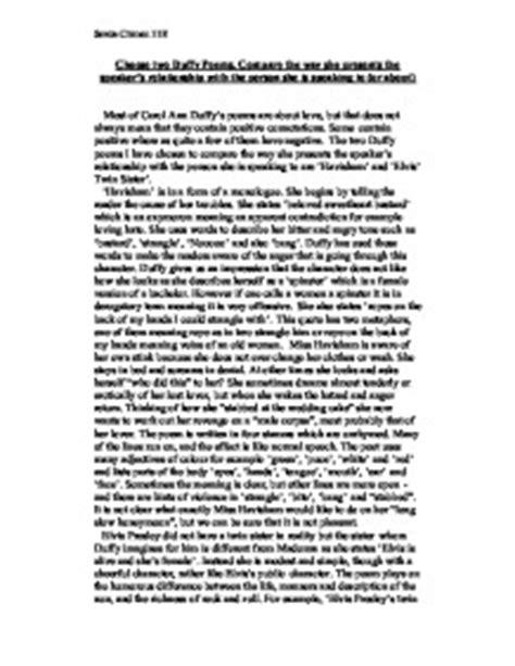 Havisham By Carol Duffy Essay by Compare Miss Havisham And Salome Essay