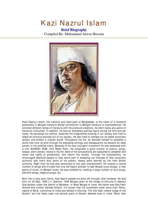 kazi nazrul islam biography in english utopian society essays oloom