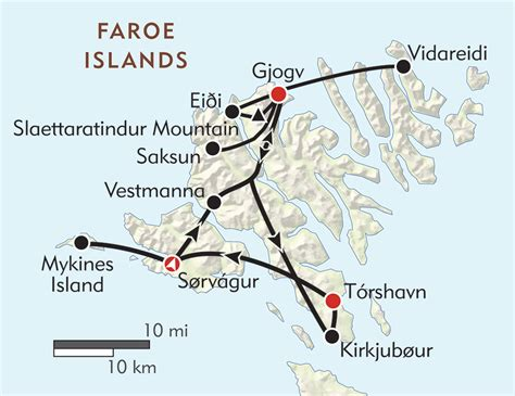 hiking  faroe islands itinerary map wilderness travel