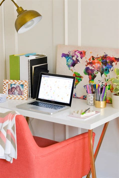 colorful office chairs sayeh pezeshki la brand logo amanda holstein s simply cozy home office office tour