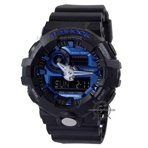 Tl Ori Real Pict gambar jam tangan g shock ga 710 1a2 hitam biru ori bm
