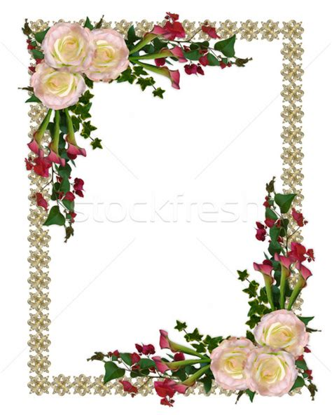 Flower Crown Mawar Marmalade Orange floral border roses and calla stock photo 169 irisangel