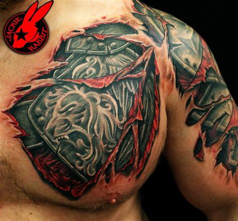 tear out tattoo designs 1000 ideas about shoulder armor on