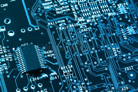 integrated circuit card technology computer circuit board closeup stock photo image 30090016