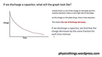 notes on charging and discharging of capacitor charging and discharging capacitors