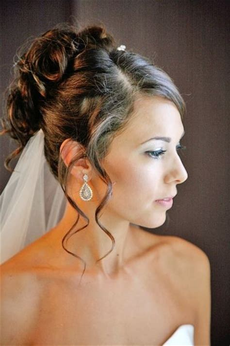 Wedding Hairstyles All Up by Bridal Hairstyle All Up Side Part Curls With Tendrils