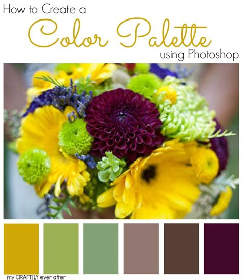 create wedding color palette how to create a color palette using photoshop my