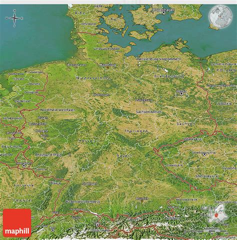 germany satellite map satellite 3d map of germany