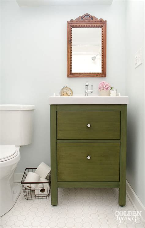 Ikea Bathroom Vanity Hack with Ikea Bathroom Vanity Update On The Update The Golden Sycamore