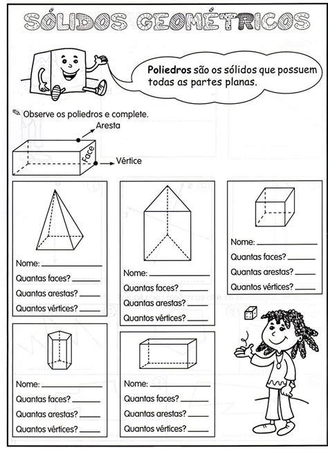 figuras geometricas atividades 4o ano atividades educativas pinteres