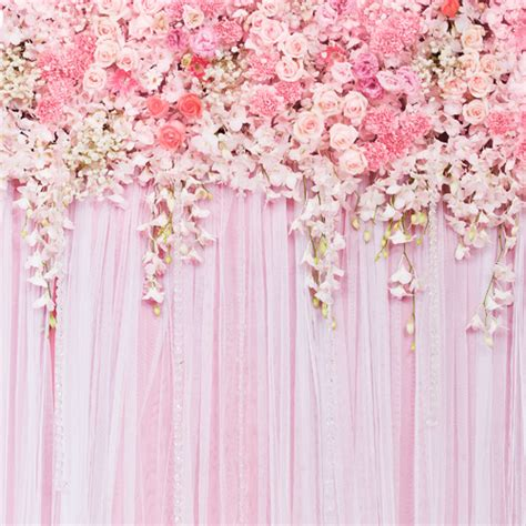 wedding curtains 8x8ft theme wedding backdrops flower floral curtain for