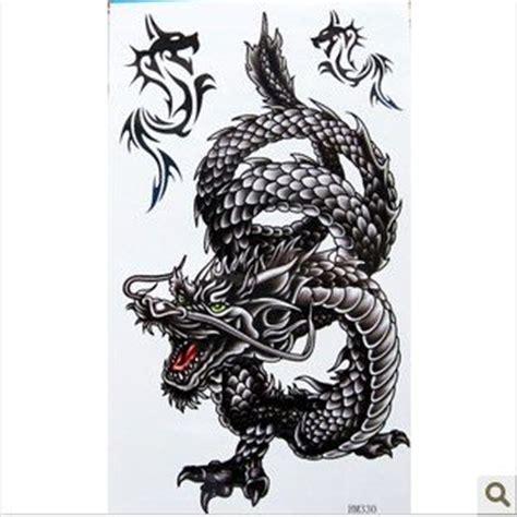 black dragon tattoo legian free shipping waterproof black dragon tattoo back enlarge