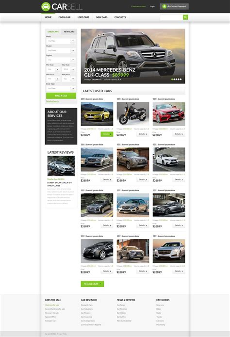 motor website car dealer responsive website template 52302