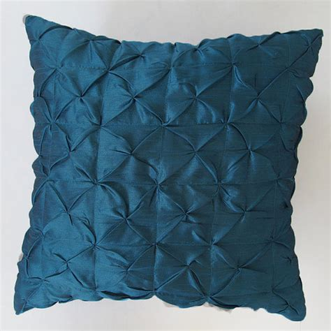 teal blue sham 26 inch pillow ruched sham custom