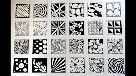 doodle patterns youtube 24 zentangle patterns 24 doodle patterns zentangle
