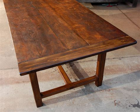 large oak and pine dining table at 1stdibs