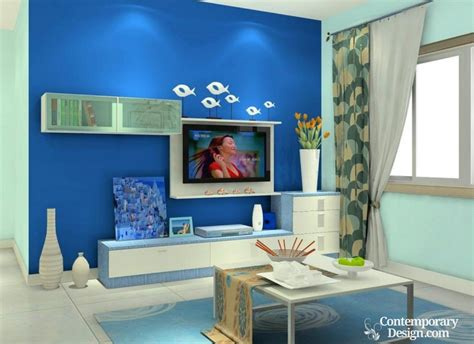 blue wall living room blue walls living room