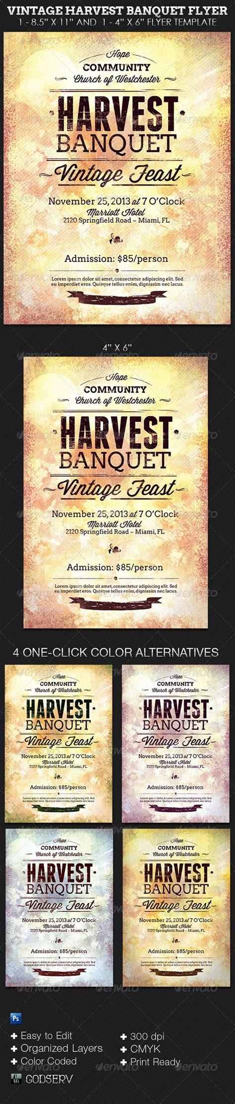 Vintage Harvest Banquet Flyer Template Luncheon Menu Banquet Flyer Template