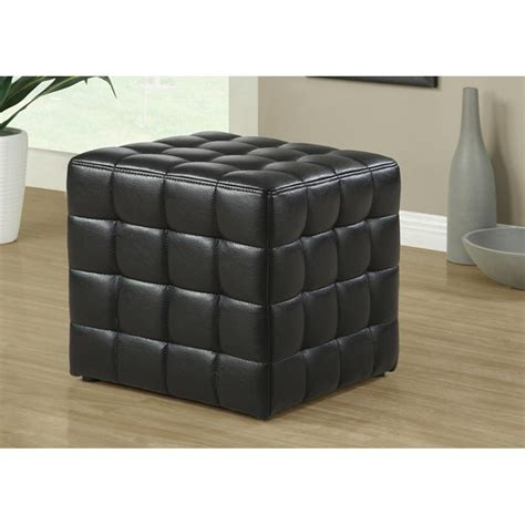 leather look ottoman ottoman foot rest stool leather look upholstery square