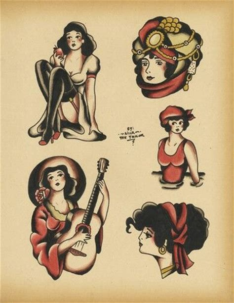 tattoo flash girl nick the tailor on devianart sailor tatoos pinterest