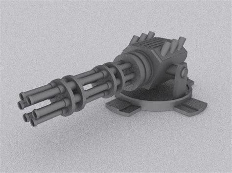 Kaos 3d Gafting Gun 3d model gatling gun spacecraft gun cgtrader