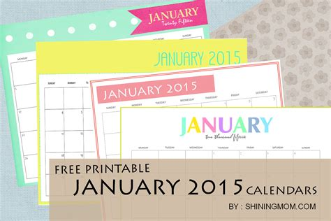 printable online calendar january 2015 free printable january 2015 calendars