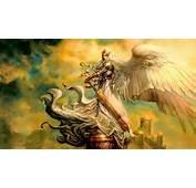 The Guardian Angel Sword Woman Fantasy Hd Wallpaper 1776401