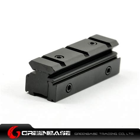Riser Dovetail To Dovetail tri rail dovetail 11mm to weaver picatinny rail riser adapter nga0210 ar 15 ak 47 dot