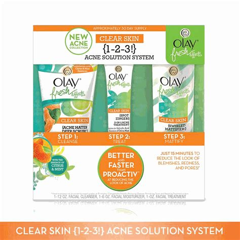 Olay Fresh Effect olay fresh effects clear skin 1 2 3 acne