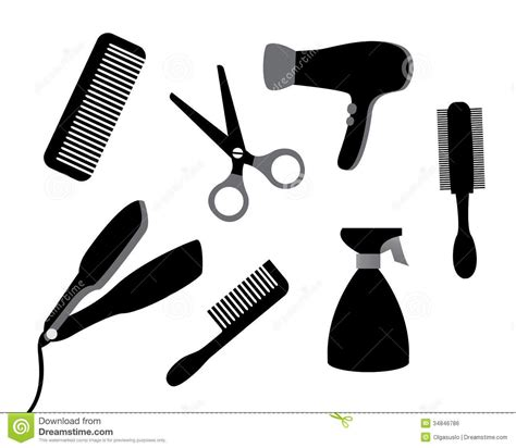 Hair Dryer Clip Free dryer and scissors clipart 9