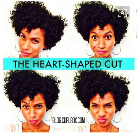 mid length tapered 4c hair heart shaped natural hair cut hairstyles to try