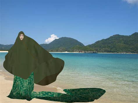 Jilbab Lebar tips memilih busana pantai untuk wanita berjilbab zoya