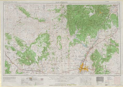 albuquerque map albuquerque topographic maps nm usgs topo 35106a1 at 1 250 000 scale