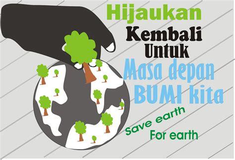 membuat poster go green gado gado interrnet