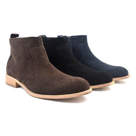 zip up boots for shop mens navy suede zip up boot gucinari casual boots