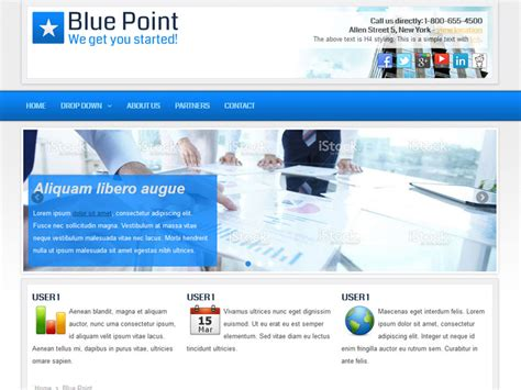 templates joomla business free blue point business joomla theme free