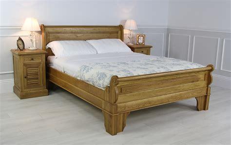 Oak Sleigh Bed Grosvenor New Solid Oak 6ft King Size Sleigh Bed Oak King Size Bed Ebay