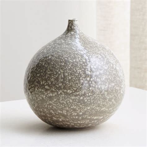 Bevin White and Grey Vase   Reviews   Crate and Barrel