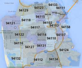 Sf Zip Code Map by San Francisco Map By Zip Code