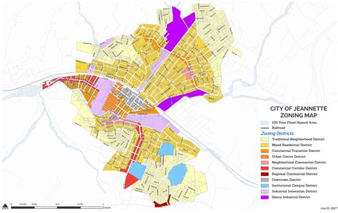 zoning map zoning department city of jeannette