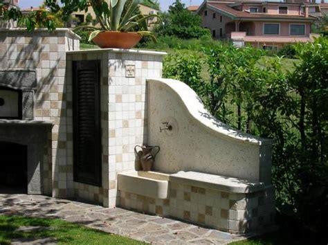panchine in muratura vendita arredo giardino con barbecue forno e lavabo