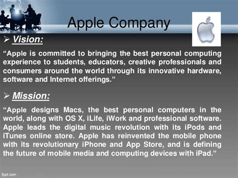 apple vision mission and objectives